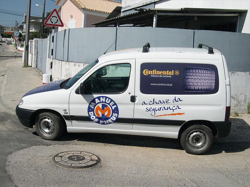 Manuel dos pneus Decoração de viatura lateral