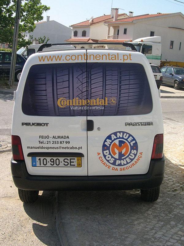 Manuel dos pneus Decoração de viatura trás