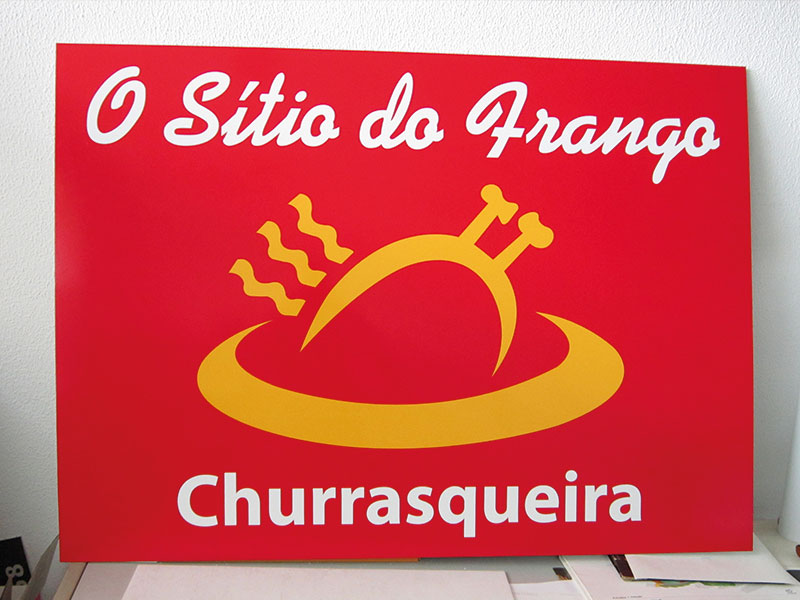 O sitio do frango placa