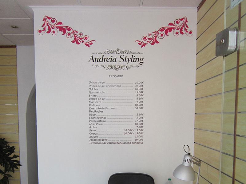 Andreia Styling Decoração de montra. Parede interior