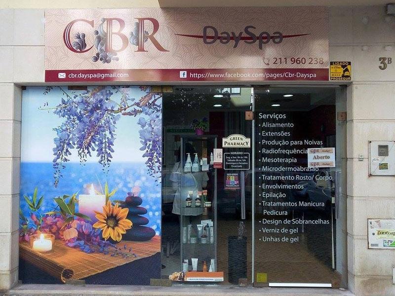 CBR Day Spa decoração de Montra