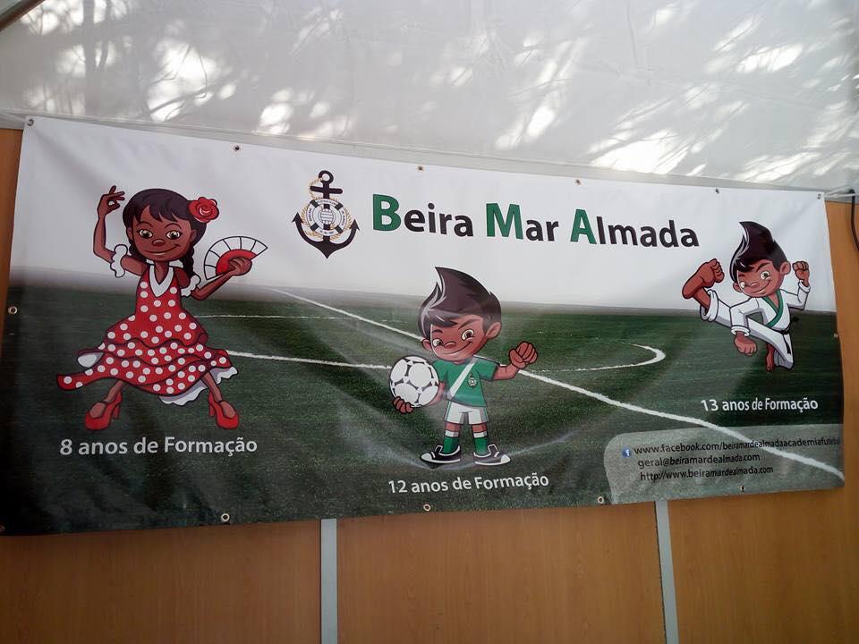 Lonas publicitárias Clube Beira Mar Almada