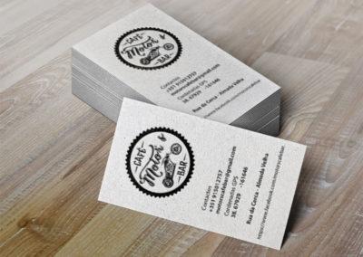 Motors café cartões identidade