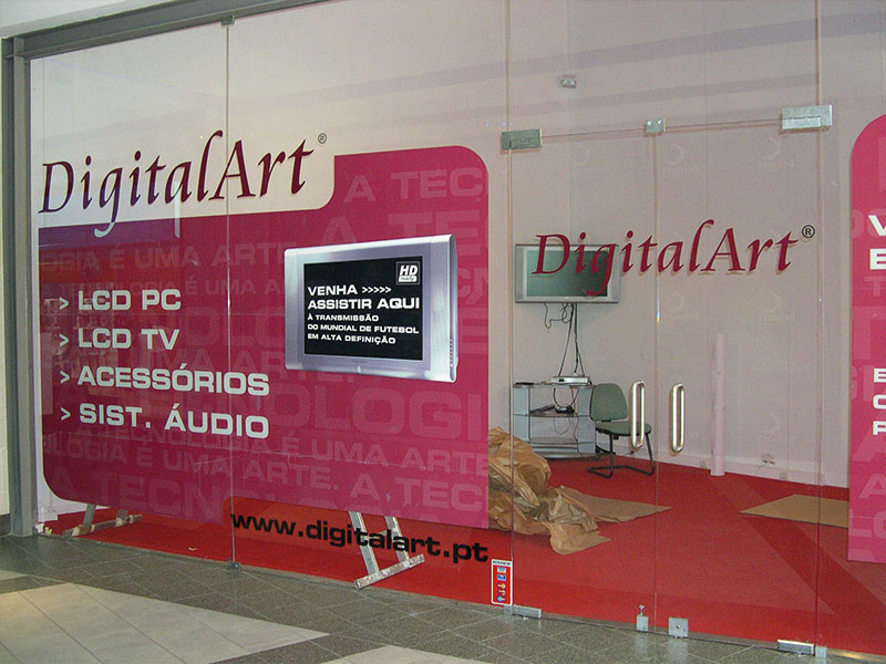 DigitalArt decoração de montras