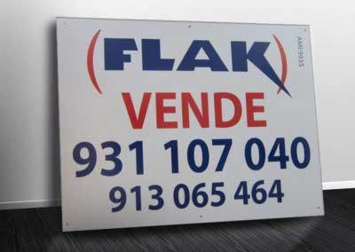 Flak placas imobiliária