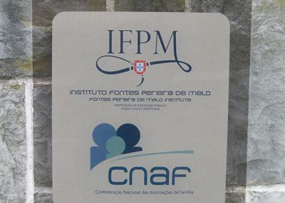 IFPM placa de acrílico