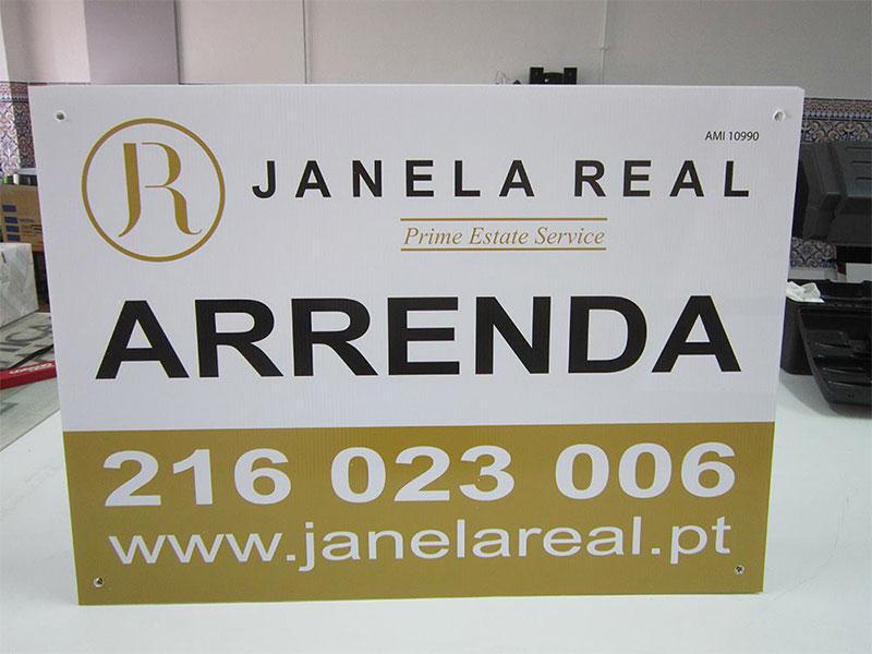 Janela Real imobiliária placas