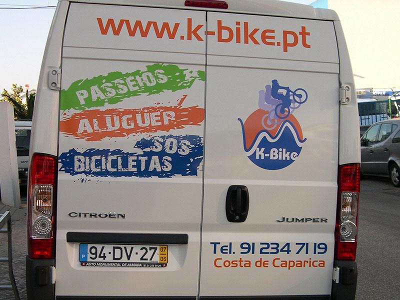 K-bike decoração de viatura
