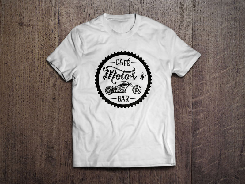 Motors café T-Shirt branca identidade