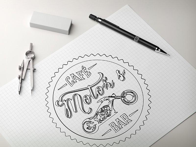 Motors café sketch identidade