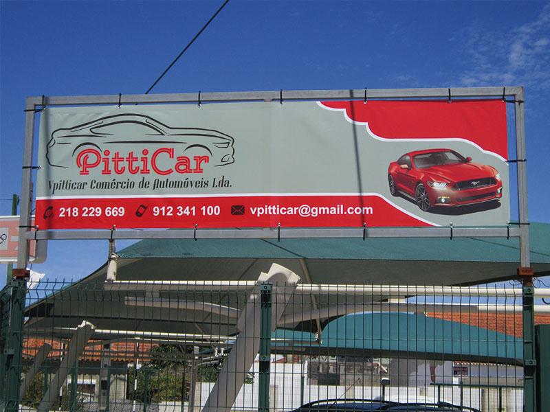 PittiCar  Lona publicitária
