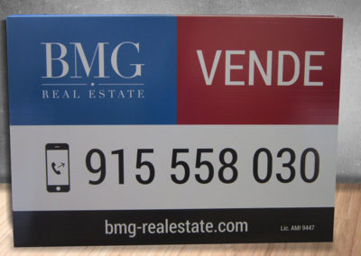 BMG Real Estate imobiliária placas