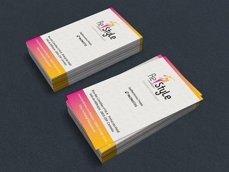 Cartões de visita Re Style