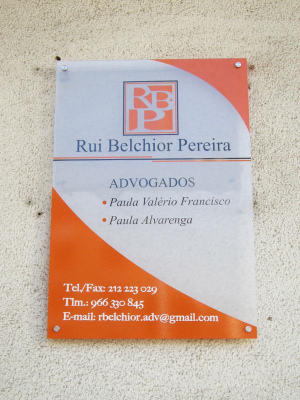 Rui Pereira advogados placa de acrílico