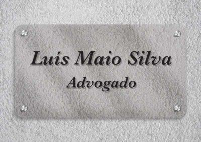 Luís Silva Advogado placa acrílico