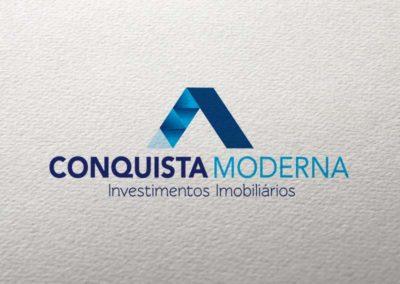 Conquista Moderna criação de logotipo