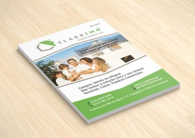 Classimo imobiliária flyers A5