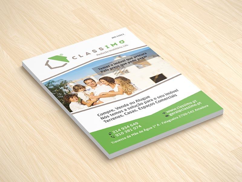 Classimo imobiliária criação e impressão de flyers A5