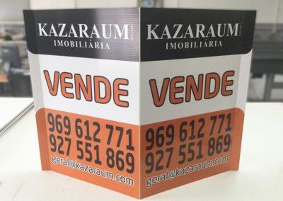 Kazaraum imobiliária placas pirâmides