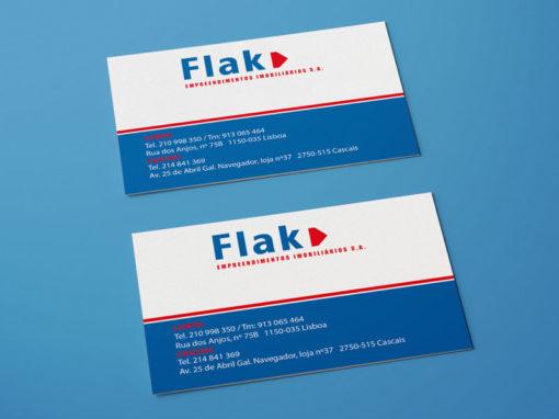 Flak Real Estate cartões de visita