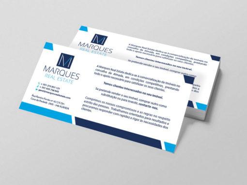 Marques Real Estate impressão de flyers
