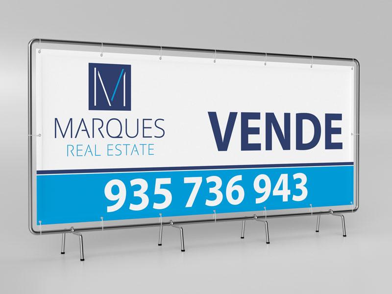Marques Real Estate impressão de lonas publicitárias