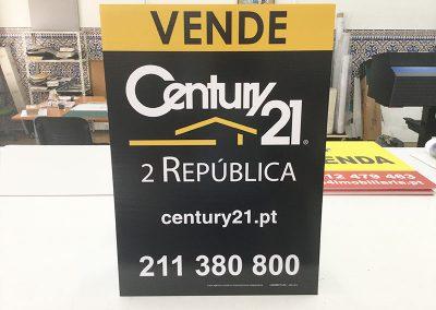 Placas imobiliárias Century 21