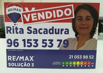 Placas imobiliárias Remax solução 3
