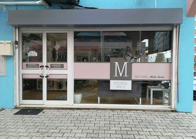 M Studio Nail´s. Decoração de montras