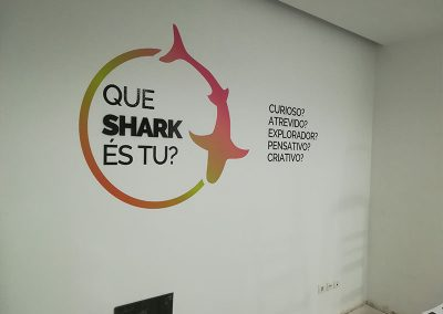 Sharkcoders parede interior