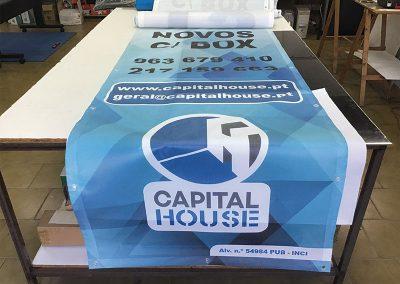 Lonas Publicitarias perfuradas Capital House