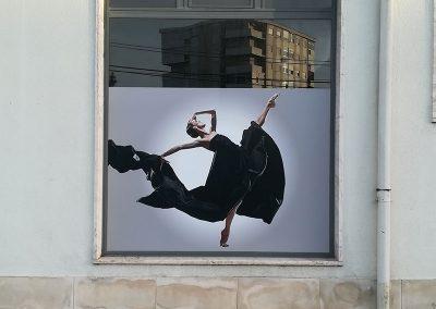 DanceIn Studios decoração de montras