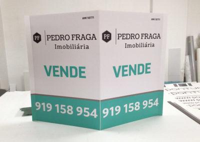 Pedro Fraga placas imobiliárias